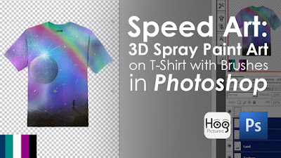 3D Spray Paint Art on T-Shirt with Brushes in Photoshop - Hog Pictures