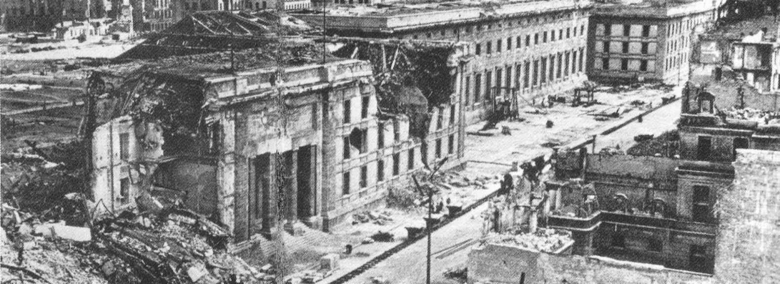 Nueva Cancillería del Reich destruida durante la guerra
