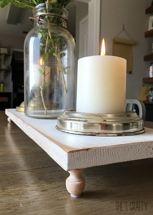 Easy Farmhouse Table Centerpiece - how to style table centerpiece