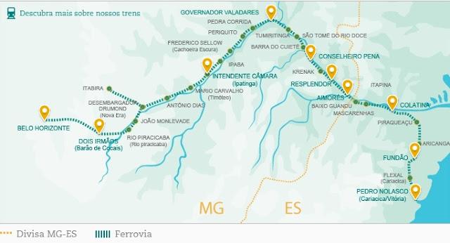 Viagem de Trem de Vitória a Minas: conheça as estações