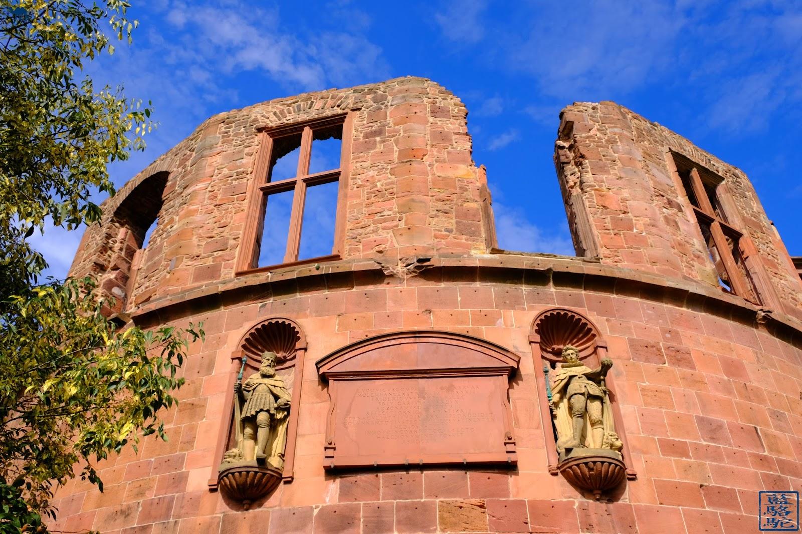 Le Chameau Bleu - Chateau Heidelberg - statue