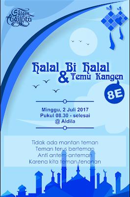 Pamflet Halal bi Halal 2017 - (EO DEZIGN)
