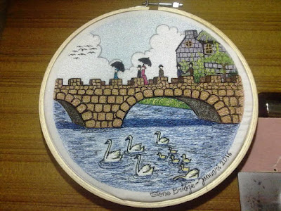 stone bridge embroidery design