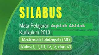Silabus Kurikulum 2013 Terbaru Mapel Aqidah Akhlak Lengkap