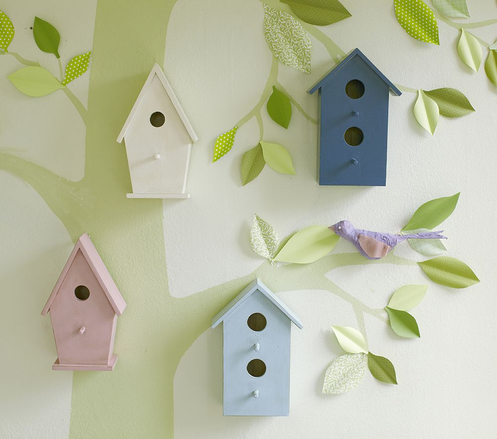 Diy Pottery Barn Kids Wooden Birdhouses Decor Look Alikes