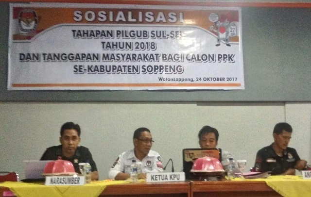 KPU Soppeng Sosialisasikan Tahapan Pilgub Sulsel