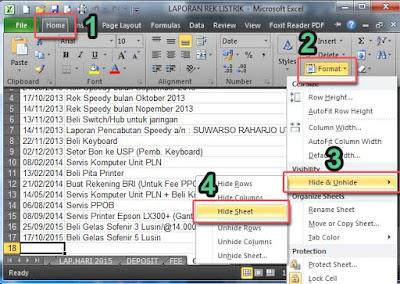Cara Menyembunyikan Sheet Pada Excel