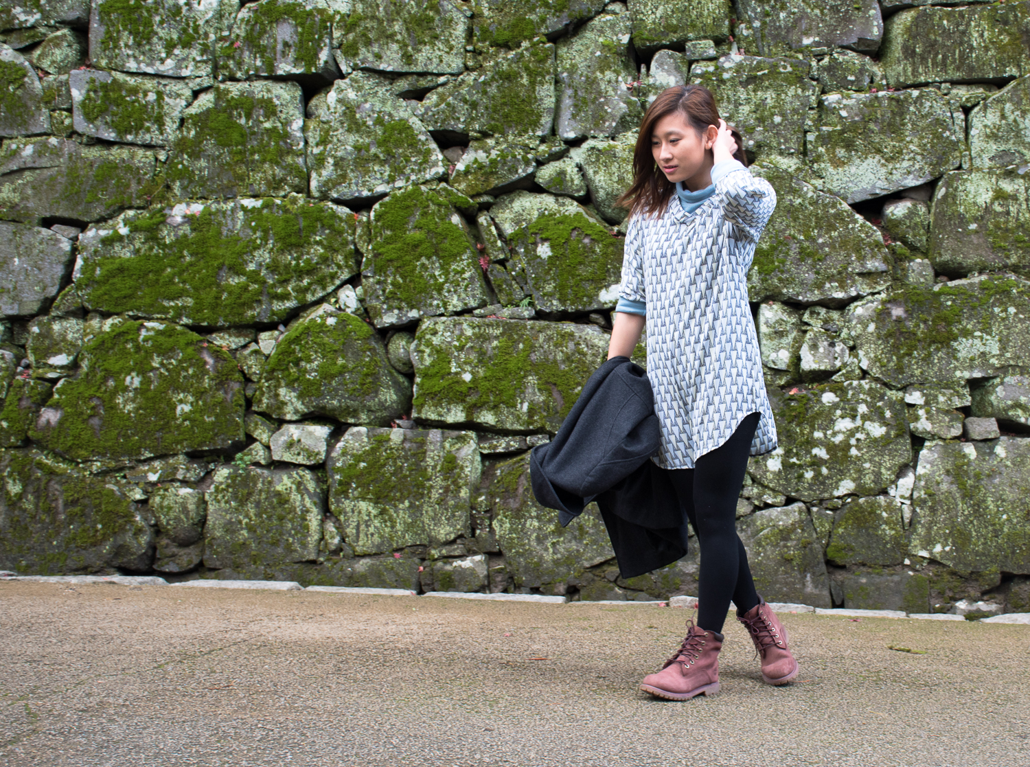 Kumamoto castle visit and outfit Japan