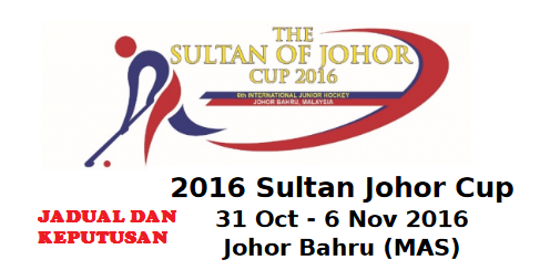 Keputusan Hoki Piala Sultan Johor 2016