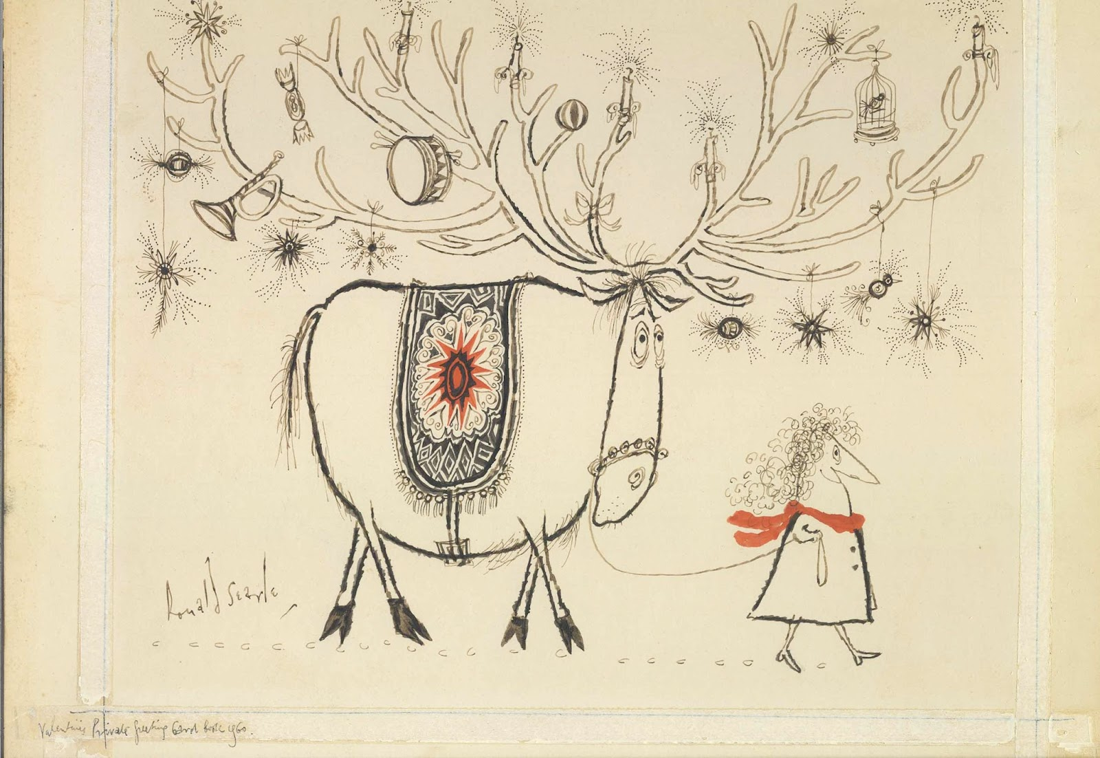 Ronald Searle Tribute Merry Christmas