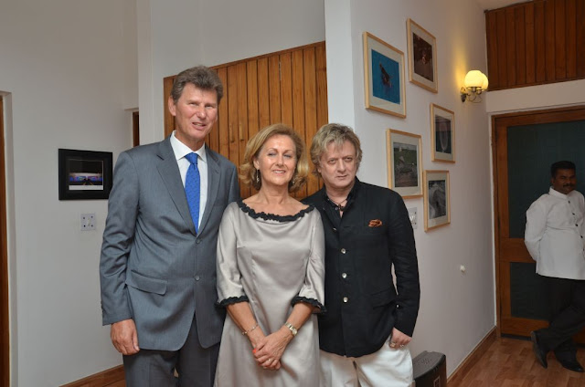 (L-R) Thorir Ibsen, Dominique Ambroise Ibsen, Rohit Bal