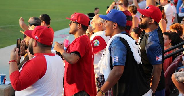 El equipo Cuba estuvo acompañado de seguidores durante toda la temporada y no precisamente 'el personal de la embajada'