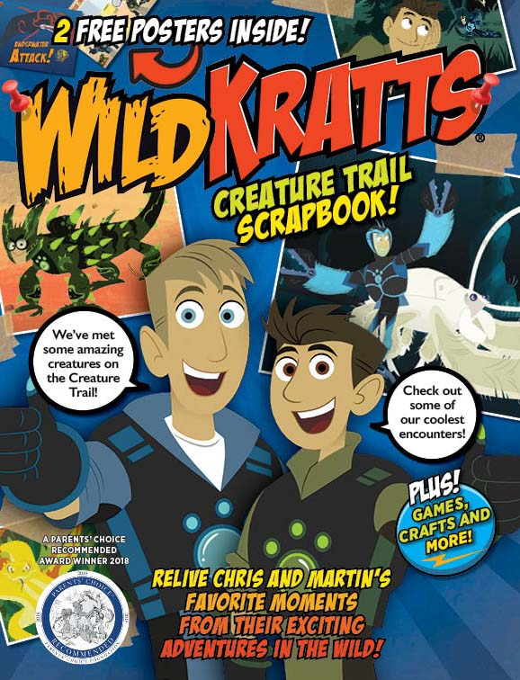 #Giveaway Go on a Creature Adventure with the new Wild Kratts Magazine