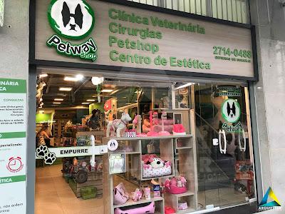 projeto arquitetura fachada pet shop petway