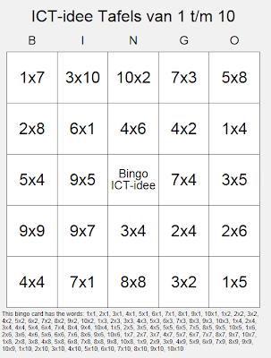 Genoeg ICT-idee: 76. Maak je eigen (educatieve) bingokaarten. YA14