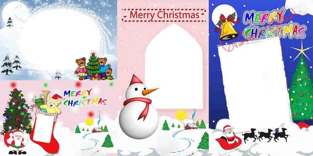 8 Marcos navideños plantillas psd