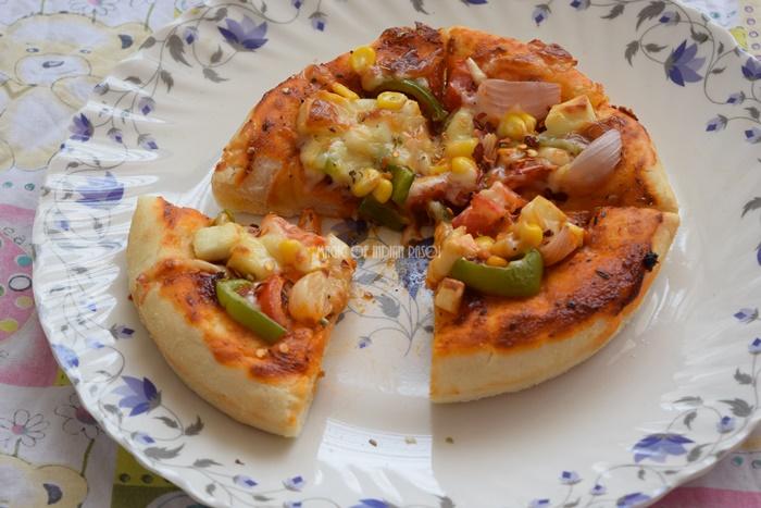 Restaurant Style Pan Pizza Recipe   Pizza Hut Pan Pizza- Magic of Indian Rasoi - Priya R