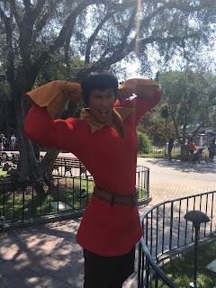 Gaston Flexing Disneyland