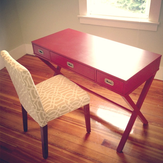 We Needed A Desk Set Up Immediately And I Fell In Love With This Little Red On At Target The Chair Is Also From It Has Gotten Ton Of Use