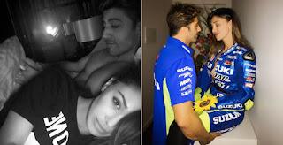 Belen Rodriguez Andrea Iannone Qatar Motogp