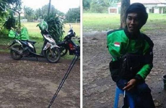Salut! Driver Ojol Bertangan Satu Ini Banjir Simpati Dari Netizen