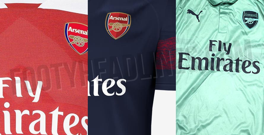 8aa1768463b Following the official launch of the new home kit, let's take a look at the  upcoming Arsenal 18-19 away and third uniforms, which are set to be  launched in ...