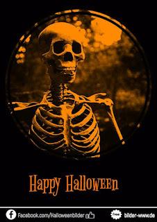 Happy Halloween Gruselig skellet