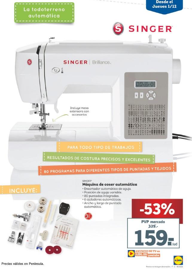 lidl catalogo oferta m quina de coser lidl 2016