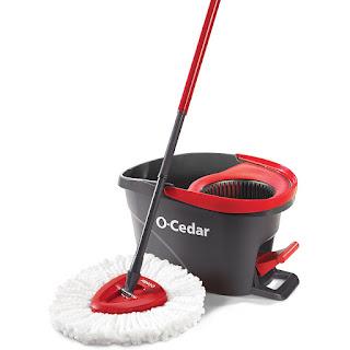 o-cedar easy wring spin mop and bucket