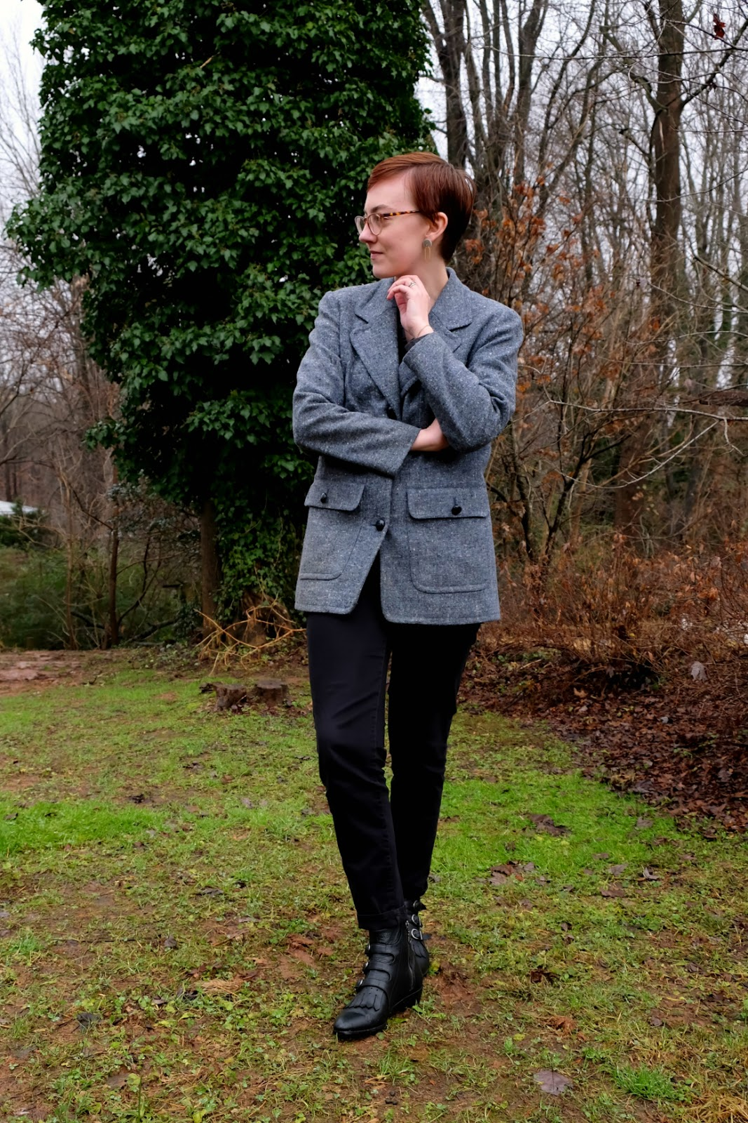 thrifted ll bean blazer thrifted style stylewise-blog.com