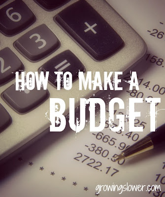 Calculator with budget caption: How to make a budget