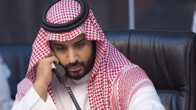 O príncipe herdeiro saudita, Mohammed bin Salman, recebeu no domingo um telefonema do presidente palestino, Mahmoud Abbas, informou a agência de imprensa saudita.