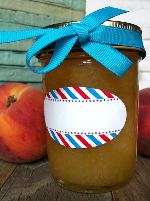 Stars & Stripes Oval Canning Jar Labels