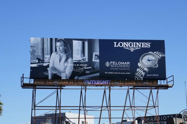 Kate Winslet Longines watch billboard