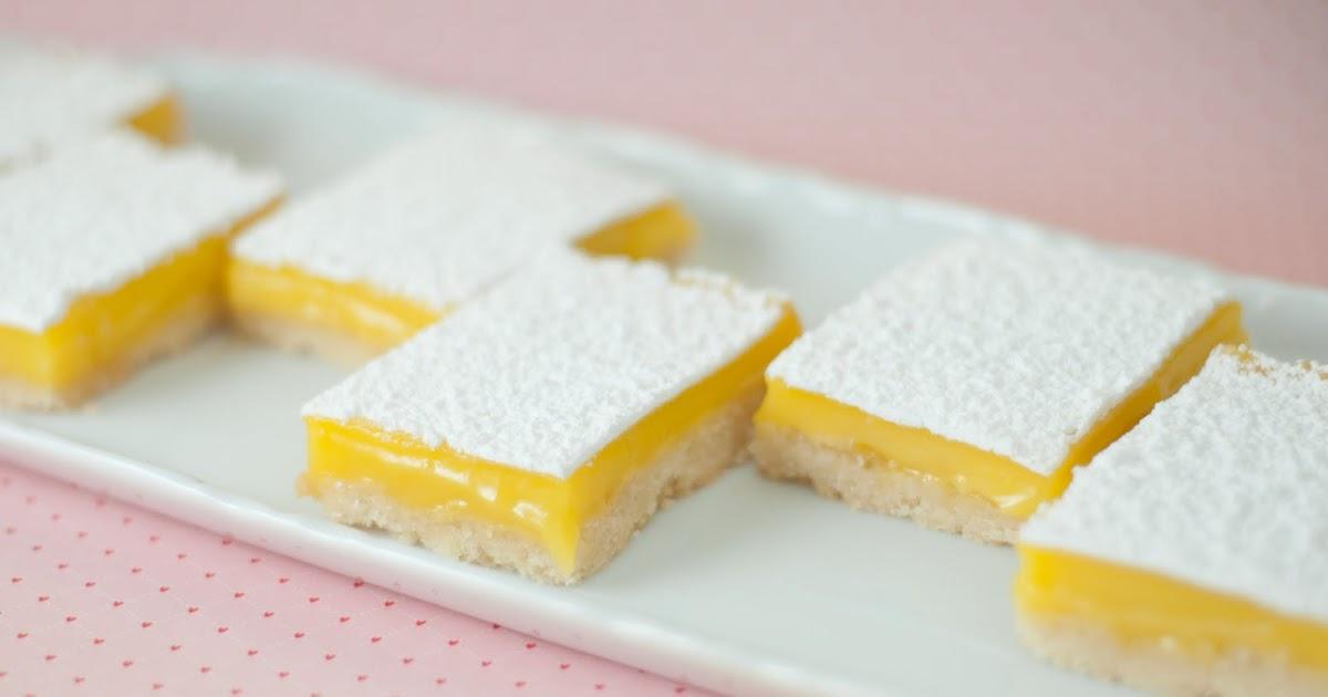 مربعات كيك الليمون