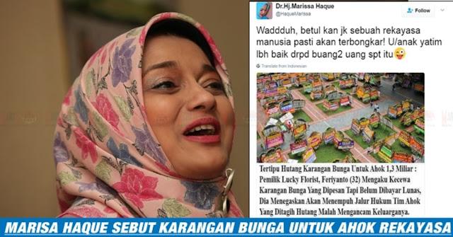 GEGER !! Marisa Haque Tebar HOAX Bunga Ahok Rekayasa !!