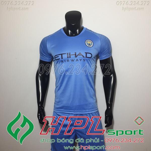 Áo đá bóng câu lạc bộ Man City xanh 2019