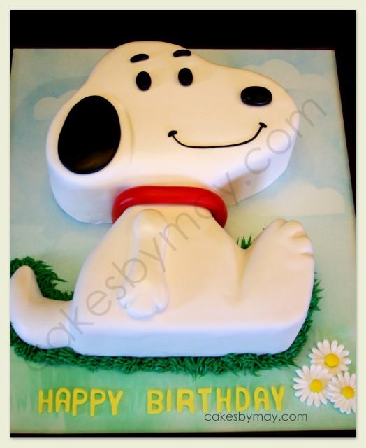 Cakes by Maylene: Snoopy Birthday Cake