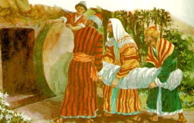 Dibujo de Sepultura de Jesús a colores