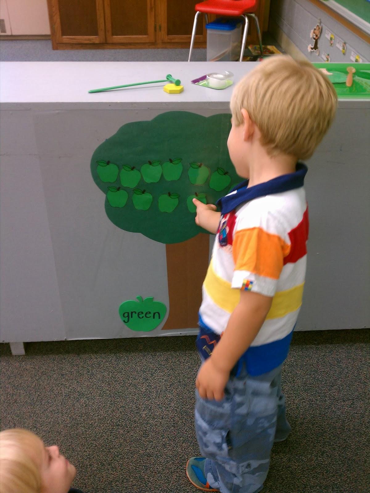 On Our Way To Kindergarten Apple Sorting