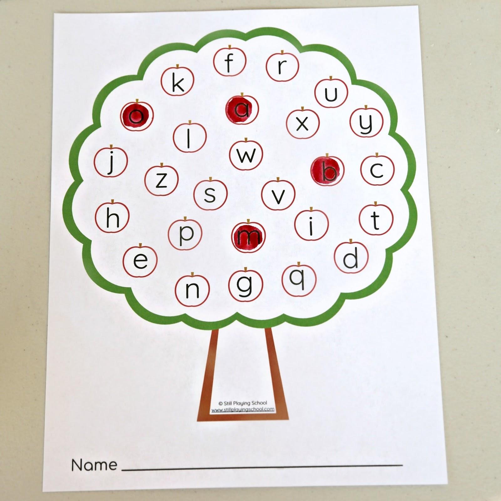 Apple Tree Alphabet Letter Game