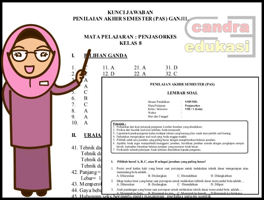 Soal Uas Penjaskes Kelas 8 Semester 1 Dan Kunci Jawaban Administrasi Sekolah Sd Mi Smp Mts Sma Ma Smk