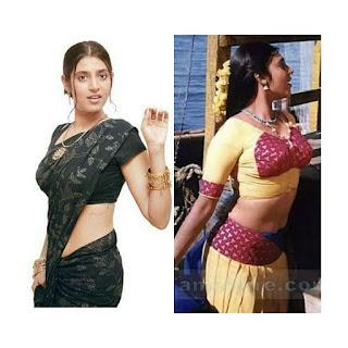 Kasthuri Shankar latest hot photos | Clevage navel wet saree open blouse Navel Queens