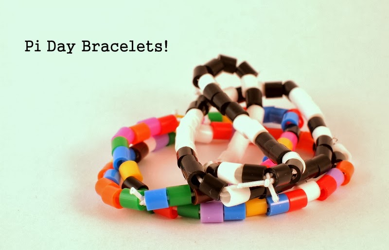 Pi Day Craft Activity- Make colorful bracelets