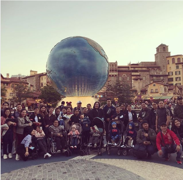 Joel Cruz brings 7 children, their nannies and other 40 people to Disney Sea in Tokyo