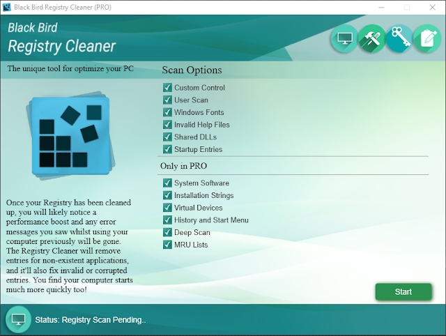 Black bird registry cleaner full version