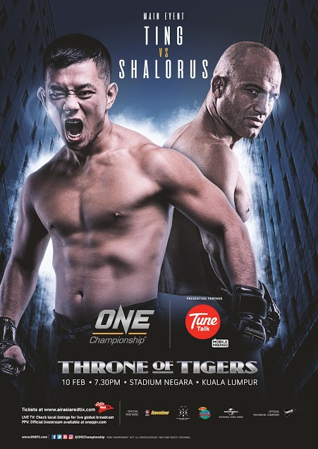 ONE CHAMPIONSHIP ANNOUNCES COMPLETE CARD FOR ONE: THRONE OF TIGERS