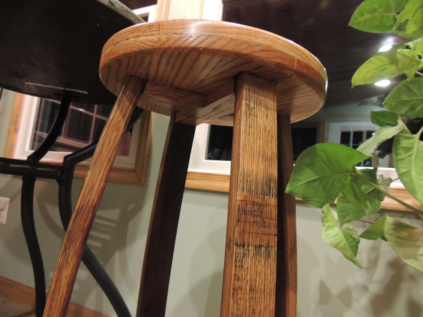 Cork To Barrel Oak Wine Barrel Stave Bar Stool