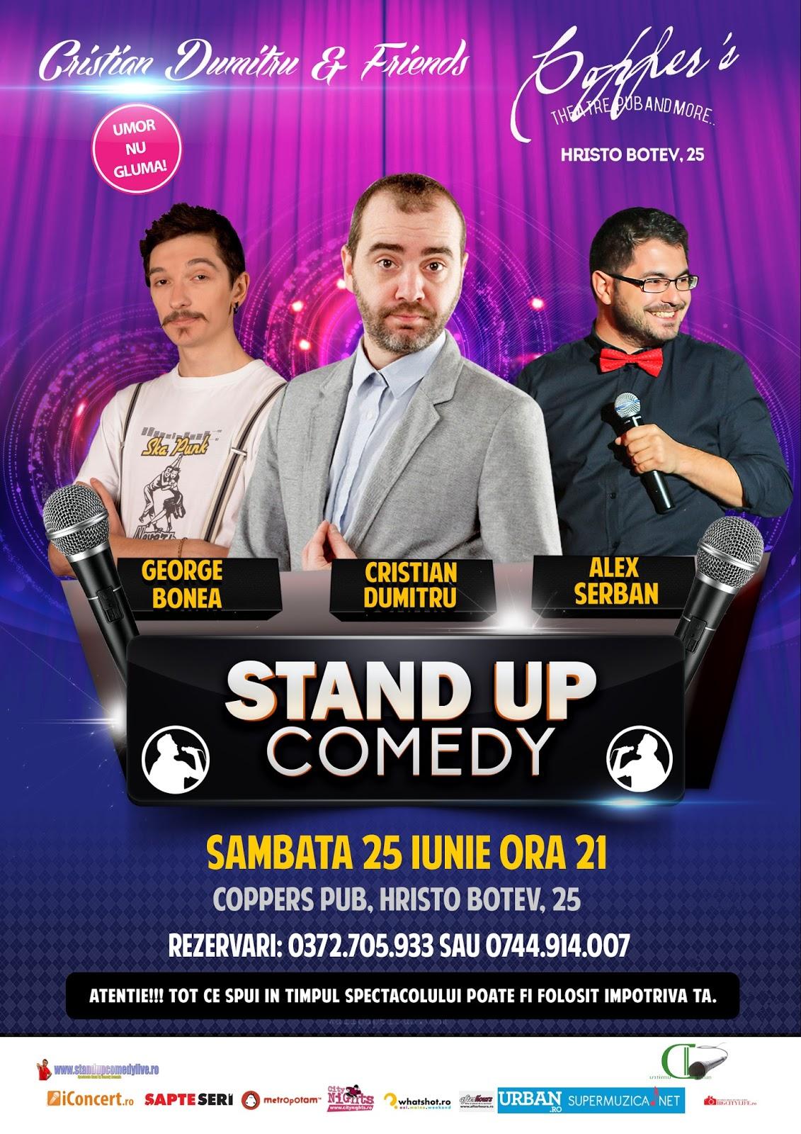 Stand-Up Comedy Sambata 25 Iunie Bucuresti