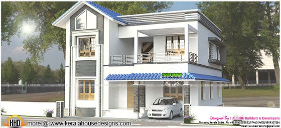 2600 sq-ft 4 bedroom modern home